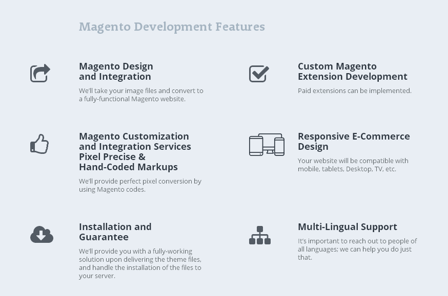 Features Magento Development